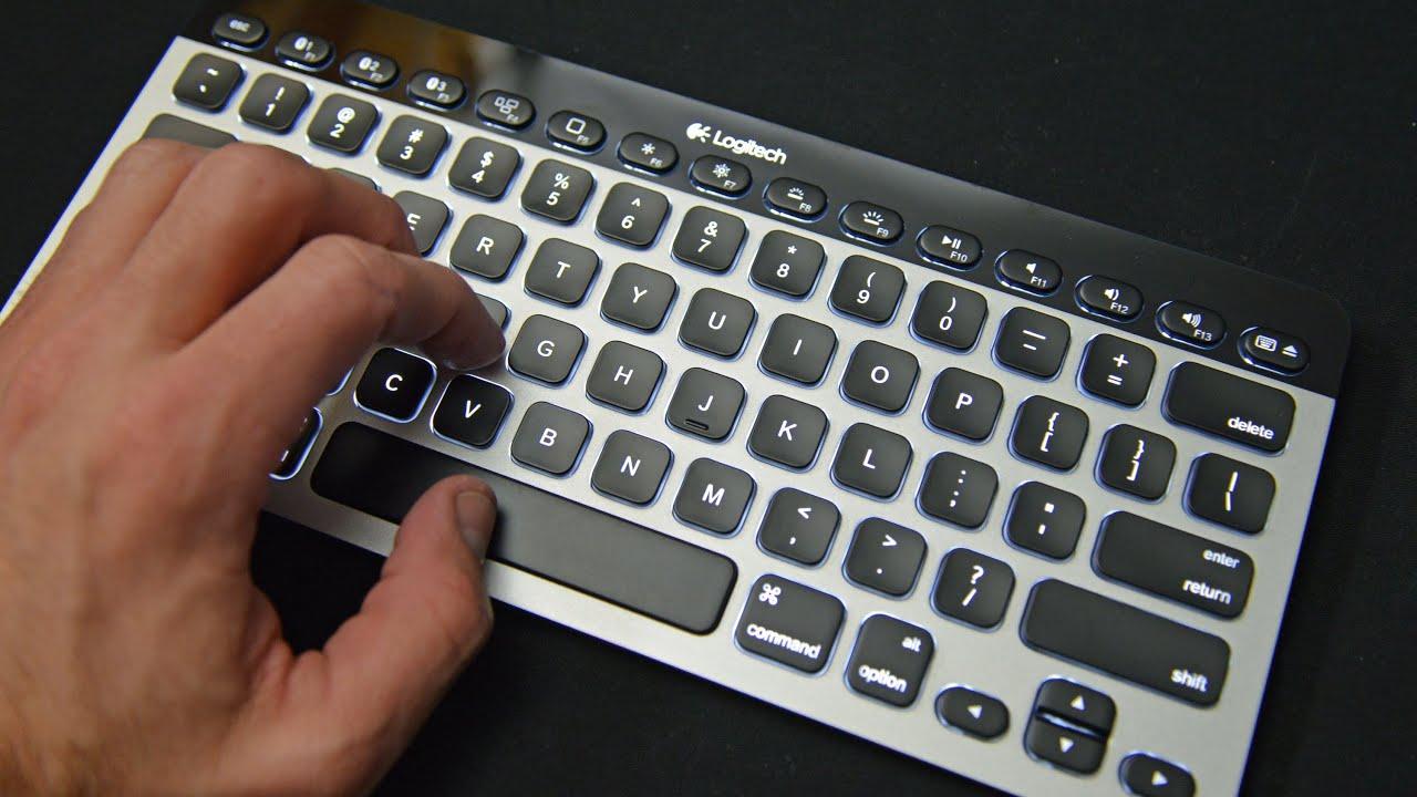 Logitech Bluetooth Easy Switch Illuminated Apple Keyboard