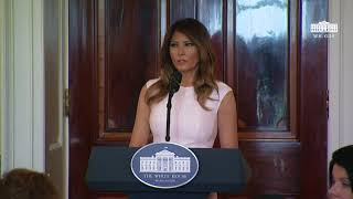 First Lady Melania Trump Delivers Remarks at the Governors' Spouses' Luncheon