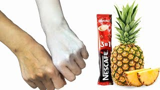 How To Apply Pineapple & Nescafe To Skin Whitening At Home