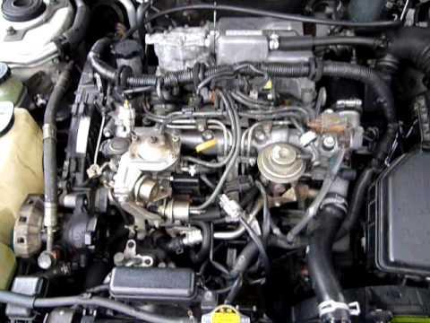 Toyota 2C-T engine runing - YouTube