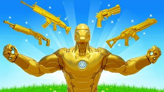 The GOLD IRON MAN Challenge in Fortnite!