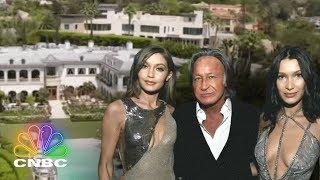 Go Inside Gigi & Bella Hadid's Childhood Mega-Mansion | Secret Lives of the Super Rich | CNBC Prime