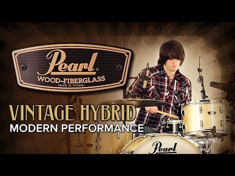 Pearl Drums Pearl Wood Fibreglass Limited Edition Drum Kit