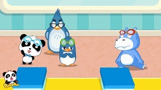 Baby Panda's Swimming Race | Kids Love Sports | Kids Cartoon & Songs  | BabyBus