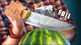 HOW TO MAKE KNIFE FROM KITCHEN FOIL!