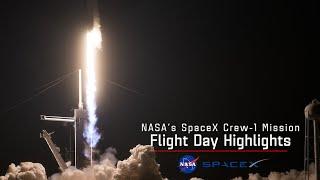 NASA's SpaceX Crew 1 Flight Day 1 Highlights