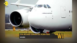 Wings on-board Emirates A380: The world's largest passenge..