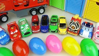 Mini Cars and Carbot toys with surprise eggs play