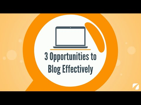 3 Opportunities to Blog Effectively