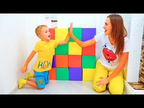 Vlad and Nikita Pretend Play with toys | Hide and seek with Mom Compilation video for kids