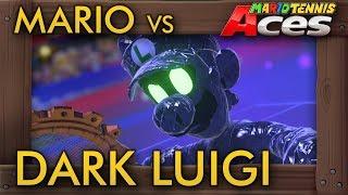 Mario Tennis Aces - Mario vs Dark Luigi