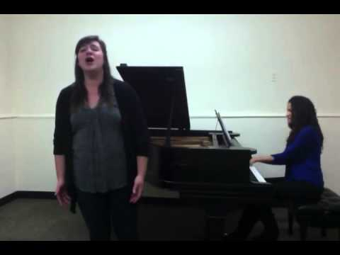"Performing ""La Promessa"" by Rossini with my friend Alyssa Conde, piano. Together we are Luly Duo"