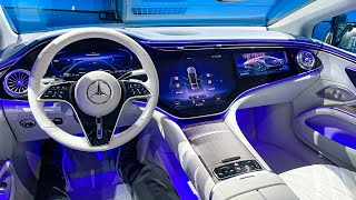 2022 NEW Mercedes EQS Full Interior Walkaround! Mercedes Benz EQS Interior Ambiente