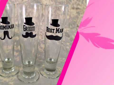 Custom Mustache Pilsner Glass - AdvantageBridal.com