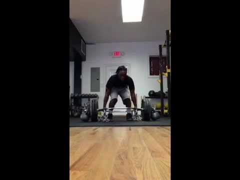Nahum Purdie 540 lb. hex deadlift