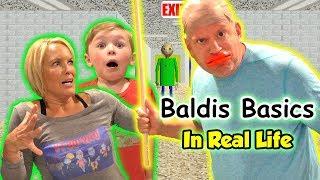Baldi's Basics Game in Real Life! Does Baldi Get Us?   DavidsTV