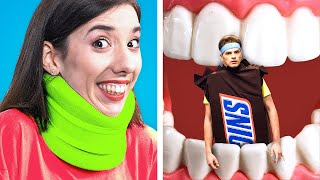 HOW TO SNEAK FOOD INTO HOSPITAL! How To Sneak Food Anywhere! Food Hacks, Pranks and Tricks by Kaboom