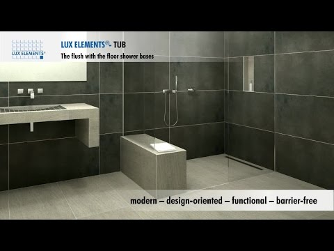 LUX ELEMENTS product: flush with the floor showers for every bathroom
