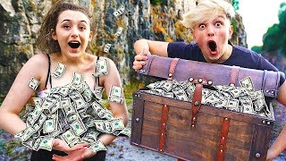 I Went Exploring & Found $100,000 in Abandoned Treasure Chest... (Treasure Hunt Challenge)