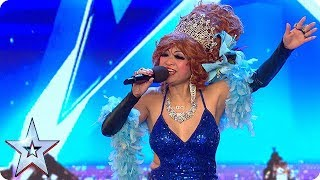 Crazy Wendy's spankingly fun act | Auditions Week 1 | Britain's Got More Talent 2018