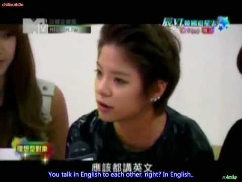 [ENG SUB] 111102 MTV Taiwan JKPop - Amber's Ideal Type (cut)