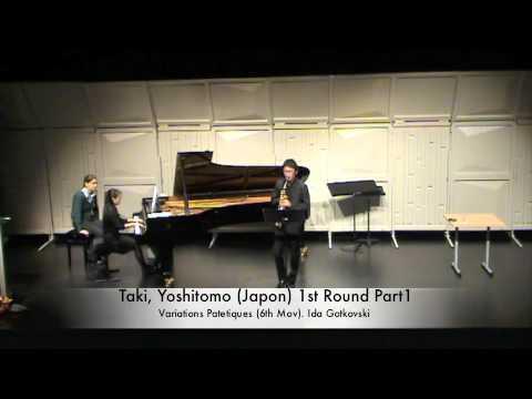 Taki, Yoshitomo (Japon) 1st Round Part1