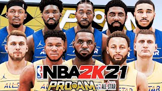 TEAM LEBRON VS TEAM DURANT | 2021 NBA ALL-STAR GAME IN COMP PRO-AM ON NBA 2K21