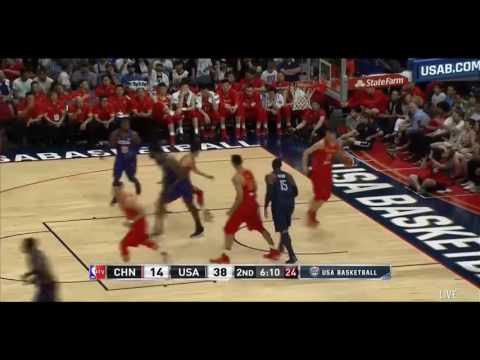 【2016籃球美國vs中國 第一場 奧林匹克】NBA球星 (奧運熱身賽)精彩剪輯Olympic USA vs China Full Highlights 'NBA夢幻隊