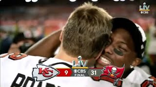 Final minute and celebration of super bowl 55