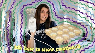 opening up about my life while baking cupcakes