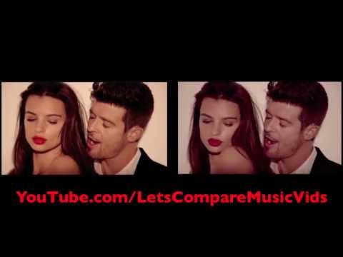 Baixar Robin Thicke featuring T.I. & Pharrell Williams - Blurred Lines [Comparison Video]