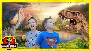 Chase and Cole Adventures Have Dinosaur Showdown with Giant T-Rex!
