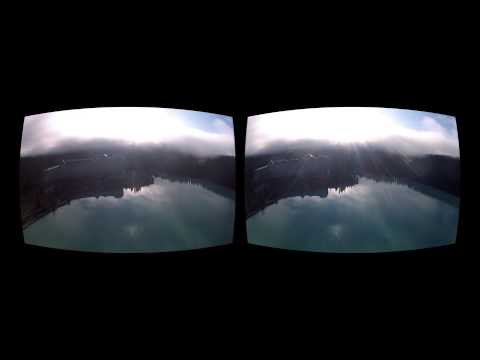 Oculus Rift 3D GoPro movie - Canada 05 Morning at Lake Louise