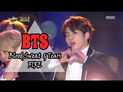 [MMF2016] BTS - Blood Sweat & Tears, 방탄소년단 - 피땀눈물, MBC Music Festival 20161231
