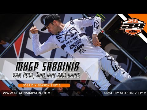 SS24EP12 - MXGP MOTOCROSS WORLD CHAMPIONSHIP IN SARDINIA ITALY - VAN TOUR AND MORE! (OH AND A CRASH)