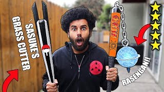 I Bought DIY NARUTO THEMED Zombie Apocalypse SURVIVAL WEAPONS From Amazon! (5 STAR) *NARUTO EDITION*