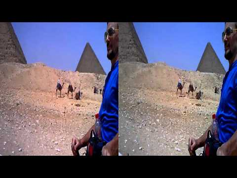 Camel riding VJ_Tsunamix @ The Great Pyramid of Giza-3D-HD