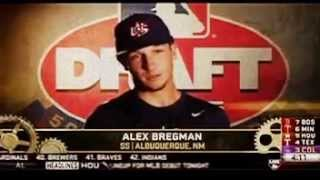 Houston Astros draft Alex Bregman in the 1st Round of the 2015 MLB Draft