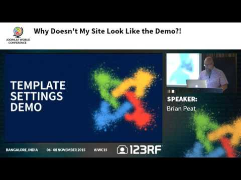 JWC15 - Why doesn't my site look like the demo?!