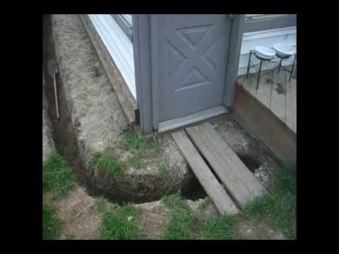 Drainage Trench French Drain Wet Basement Fix