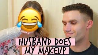 HUSBAND DOES MY MAKEUP CHALLENGE | I SPRAINED MY WRIST!! :( | Tara Henderson