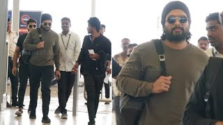 Allu Arjun with stylish look spotted in airport..