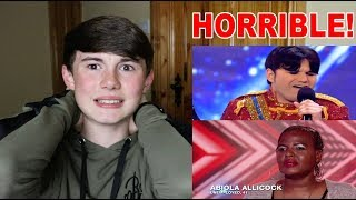 REACTING TO THE WORST X FACTOR AUDITIONS EVER! *FUNNY AF*