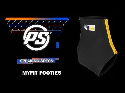 Video PWR MYFIT Footies Low Cut 2mm Black