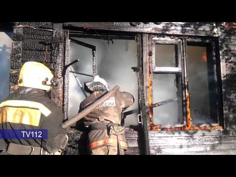 Пожар в администртивном здании на Талажском шоссе в Архангельске