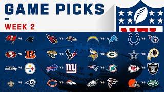 Week 2 NFL Game Picks | NFL 2019