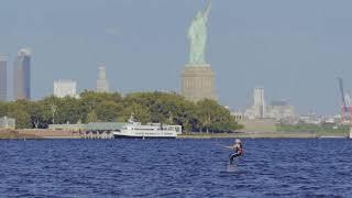 NOBILE KITEBOARDING: One day with splitboard in New York City