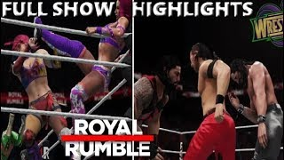 WWE 2K18 ROYAL RUMBLE 2018 FULL SHOW PREDICTION HIGHLIGHTS