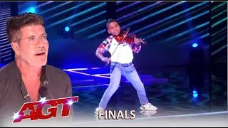 Tyler Butler-Figueroa: Simon Cowell's Golden Buzzer SLAYS In The Finals | America's Got Talent 2019