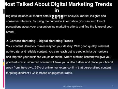 Most Talked About Digital Marketing Trends in 2016 – Digitalseed |Digital Marketing company in pune